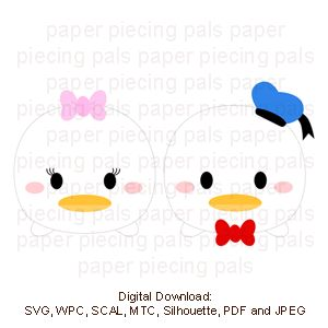 Donald Duck Daisy Tsum SVG Cutting File Disney Tsumtsum