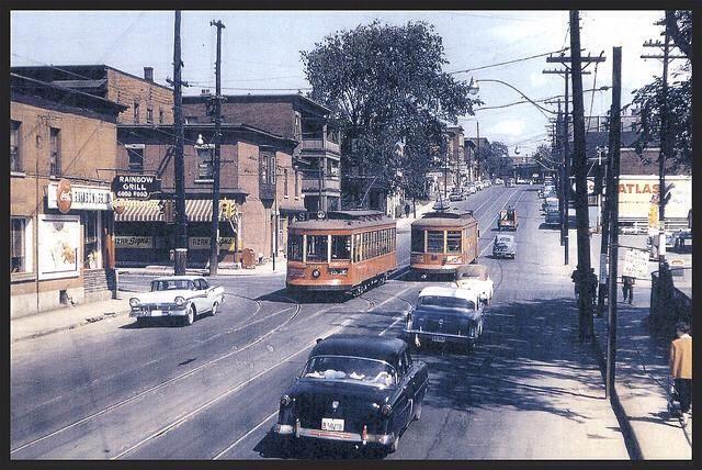 Somerset and Preston Street intersection, Ottawa , 1950's |