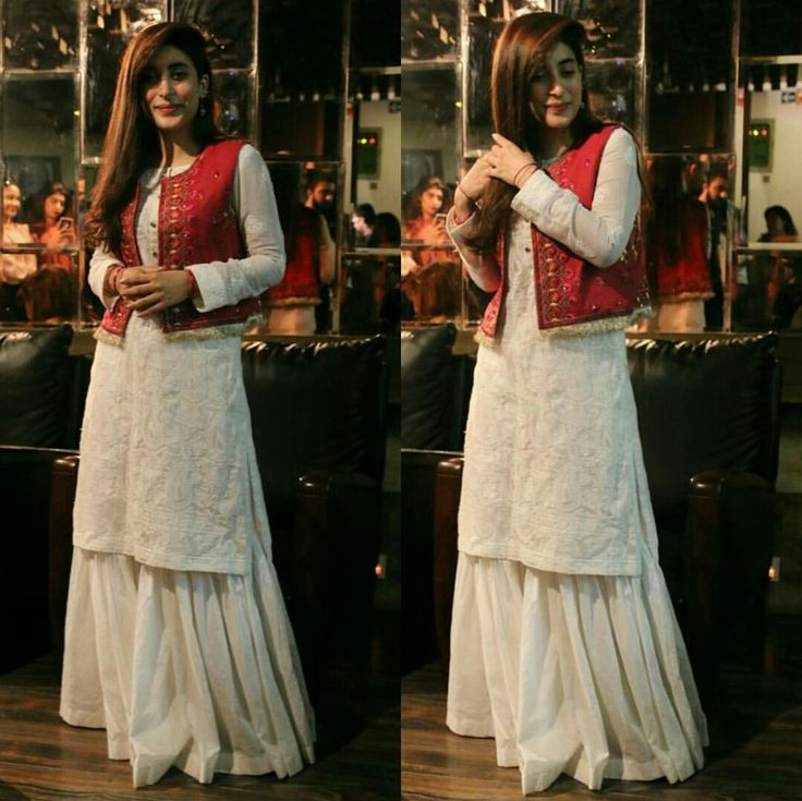 Here Comes our Panjabi Kuri How Gorgeous Does She Looks in White Kameez Sharara Paired with Traditional Red Waist Coat ❤ Urwa Hocane's Wedding Song 24/7 Lak Hilna was Released in Lahore today during A Media Interaction with Bloggers. #Gorgeous #UrwaHocane #Style #Fashion #Outfits #Couture #Formals #Traditional #SummerCasual #SummerOutfits #ReadyToWear #EidUlAdha #2017 #PanjabNahiJaungi #PakistaniFilms #PakistaniFashion #PakistaniActresses #PakistaniCelebrities ✨