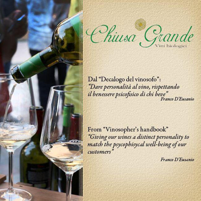 #Abruzzo #vino #chiusagrande #personality #wellbeing #respect