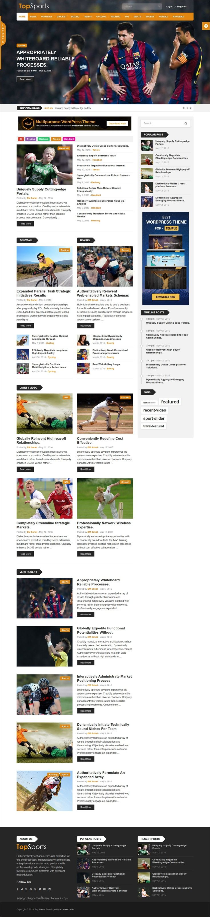 Top-News is a feature-rich, fast-loading and modern #WordPress Theme for #sports #news, newspaper, magazine, blog, video and publishing website with 9+ amazing homepage layouts download now➩ https://themeforest.net/item/topnews-news-magazine-newspaper-blog-viral-buzz-wordpress-theme/16171130?ref=Datasata