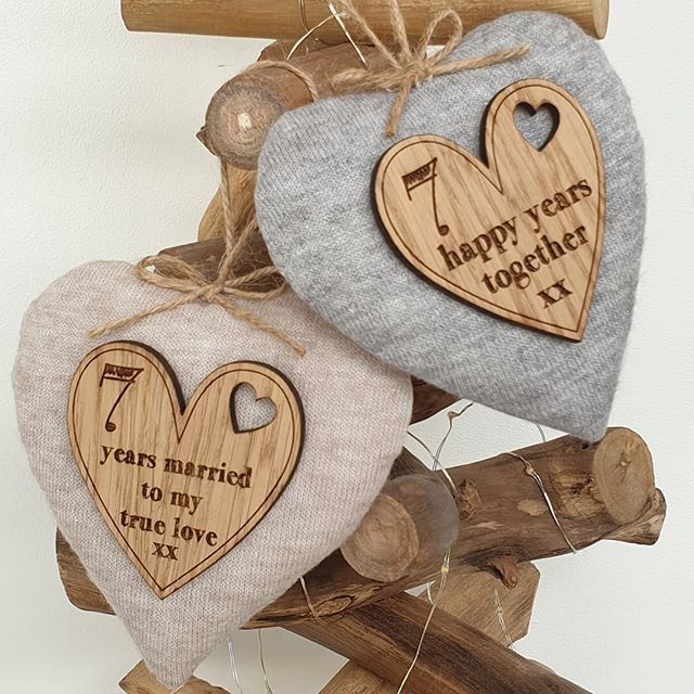 Happy Wool 7th Wedding Anniversary Handmade Hearts Woolanniversary 7thweddinganniversary 7t 7th Wedding Anniversary 7th Anniversary Gifts Handmade Heart