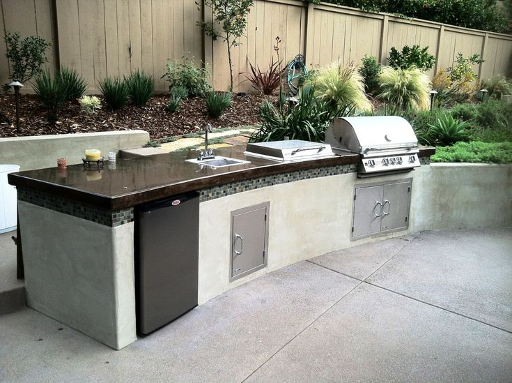 Outdoor Natural Gas Barbecue Sink Amp Mini Fridge Kitchen