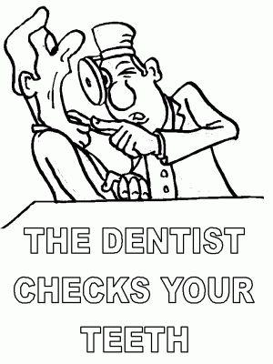 Desenhos para pintar de cuidados dentários - 5