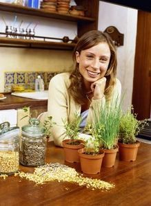 Learning how to grow your own spices indoors.