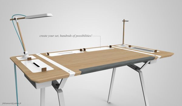 Desk concept by Francois Dransart, via Behance