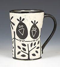Birds on a Wire Mug by Jennifer Falter (Ceramic Mug)