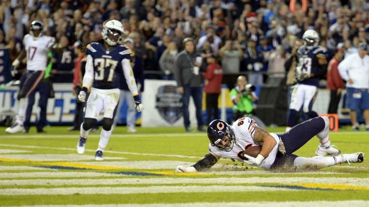 Rivers wants to hide after Chargers' 5th straight loss -   By Bernie Wilson AP Nov 10, 2015 at 11:22a ET -   Nov 9, 2015; San Diego, CA, USA; Chicago Bears tight end Zach Miller (86) scores a touchdown during the fourth quarter against the San Diego Chargers in a 22-19 win over the Chargers at Qualcomm Stadium.   Jake Roth / USA TODAY Sports