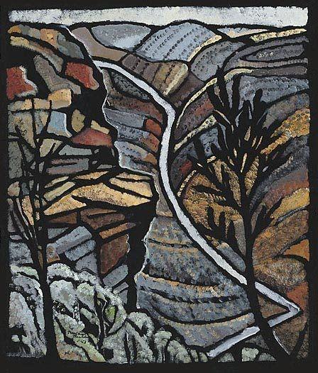 Shoalhaven Gorge NSW by Australian artist Margaret Preston (1875-1963)