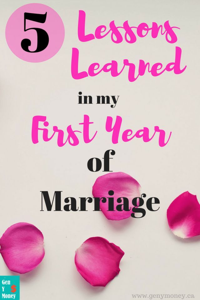 5 Lessons Learned in My First Year of Marriage