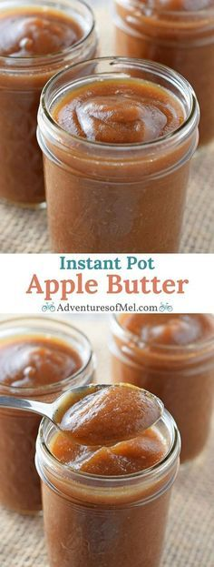 Instant Pot Apple Butter, filled with the delicious flavors of cinnamon spice goodness. Such a quick and easy recipe, I'll never buy store bought again.