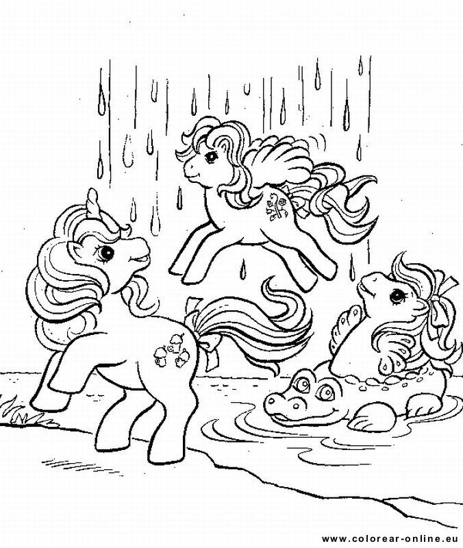 Ponies And Waterfall Coloring Page Print This Out Or Color In Online With Our New Machine