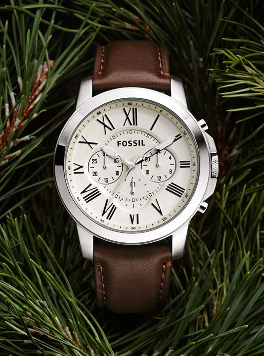 Stainless Steel Watches for Men, Leather Watches | FOSSIL Grant Watch Collection