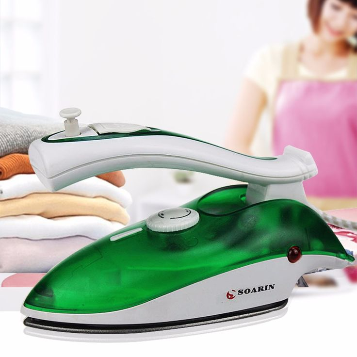 800W Portable Mini Steam Iron For Clothes With 3 Gears 220V Teflon Non-Stick Foldable Electric Iron Travel Household #Affiliate