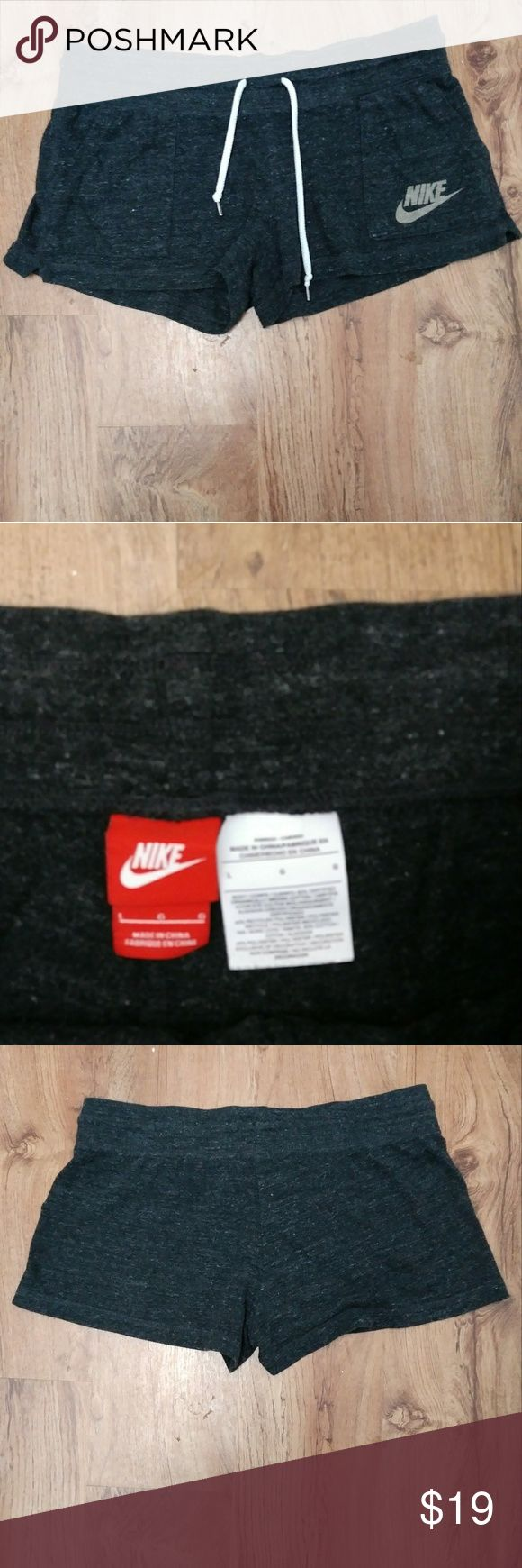 Nike cotton shorts Charcoal grey... Nike logo on front..very stretchy Nike Shorts