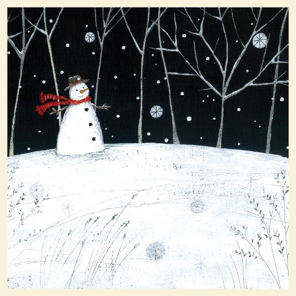 Snowman Card by Lucy Grossmith from The Night Before Christmas Range by Museums & Galleries