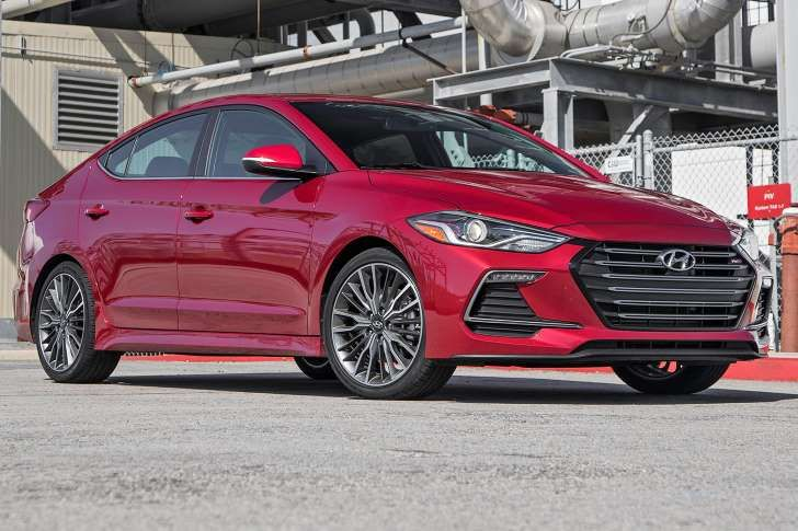 2017 Hyundai Elantra Sport, and coming soon, the 2018 Elantra GT Sport Hatchback -- Priced well under $30,000 even when fully loaded, the 2017 Elantra Sport is a major bargain among sporty compact cars. The only option is the Premium package that adds everything from an 8.0-inch touchscreen and navigation to an Infinity premium audio system and blind-spot warning with rear cross-traffic alert. Add to that the well-balanced, high performance and handling, and you've got value and fun!