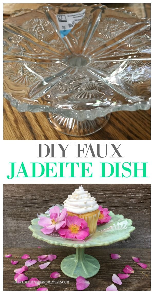 DIY Faux Jadeite Dish from a Thrift