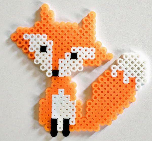 Fox - Creative Perler Beads Ideas, http://hative.com/creative-perler-beads-ideas/,