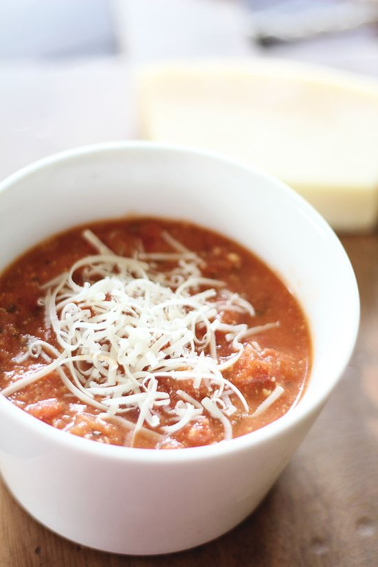 Delicious tomato parmesan soup from dashingdish.com. Only 100 calories per cup (2 Points+)! I made this today and it is great!