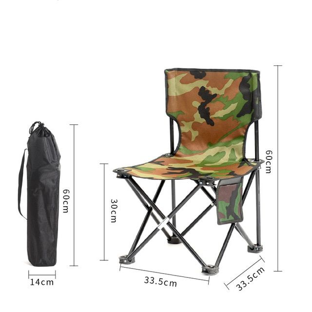 Outdoor Furniture Fishing Chair Camping Folding Chair With Oxford Cloth For Garden Beach Chair Backrest Picnic For Family Travel Review Fishing Chair Outdoor Chairs Beach Chairs