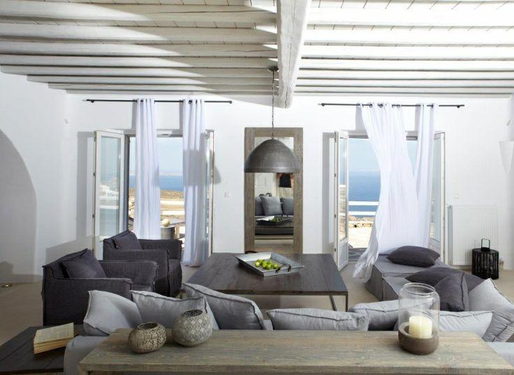Living Room of Gold Villa in Mykonos: http://instylevillas.net/property/gold-villa-mykonos/