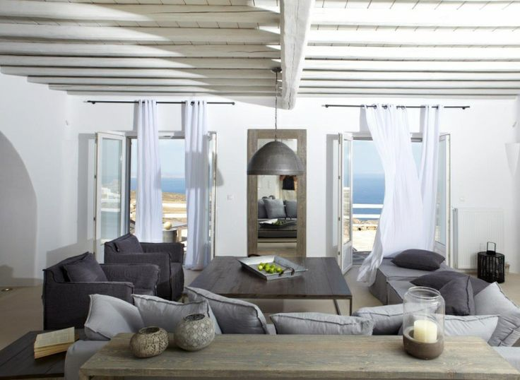 Living Room of Gold Villa in Mykonos: http://instylevillas.net/property/gold-villa-mykonos/