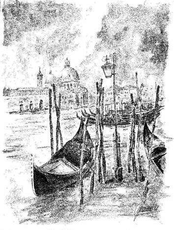 """""""Bacino di San Marco""""  Signed by Scarpa ink on paper Lithography nr. 05/50 cm. 32x45 Price: € 95 each + shipping For contacts and orders: info@mirabiliashop.com  Venice - ITALY"""