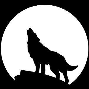 Wolf Stencil clipart