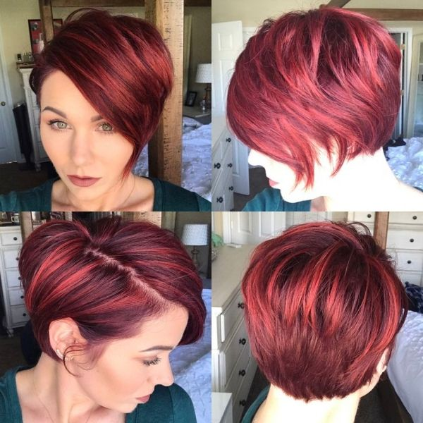 New hair! #pixie #bob #shorthair #redhair by goldie