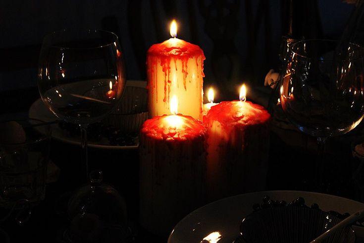 blutende kerzen halloween anleitung