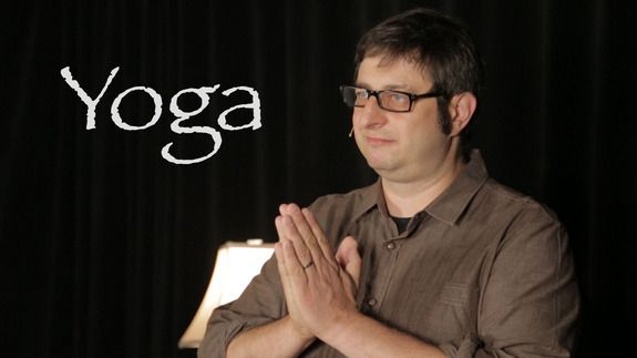 Clear your mind with Eugene Mirman's invigorating yoga class - http://edgysocial.com/clear-your-mind-with-eugene-mirmans-invigorating-yoga-class/