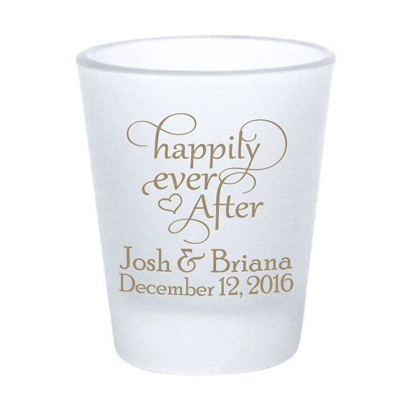 Wedding Favors Personalized Frosted Shot Glasses by Factory21