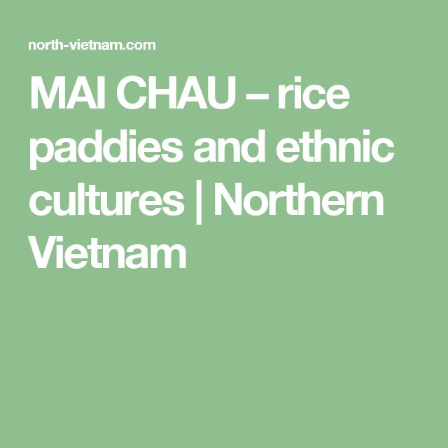 MAI CHAU – rice paddies and ethnic cultures | Northern Vietnam