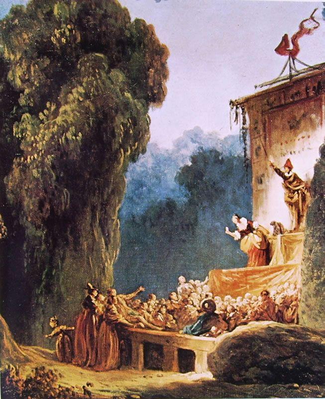 """Jean-Honorè Fragonard, """"Ciarlatani"""", 1773-76, olio su tela, 49 x 38 cm, è custodito a Zurigo nella collezione Buhrle."""
