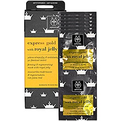 Pre-party stuff   (Apivita express gold royal jelly mask)