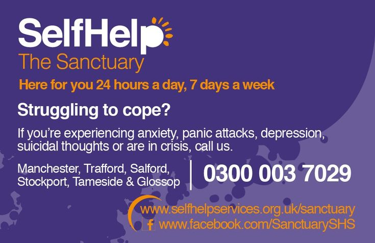 The Sanctuary: 24-hour mental health crisis support for Stockport residents - Stockport & District Mind http://www.stockportmind.org.uk/2017/02/self-help-24-hour-mental-health-crisis-support-stockport-residents/?utm_campaign=crowdfire&utm_content=crowdfire&utm_medium=social&utm_source=pinterest