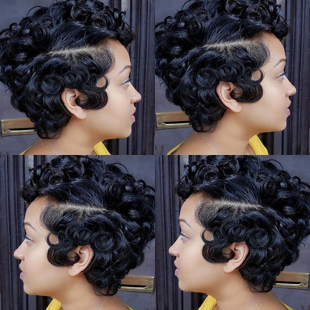Beautiful Cut Curls Via Kayhairnista Thecutlife Nycstylist Curl Short Hairpin