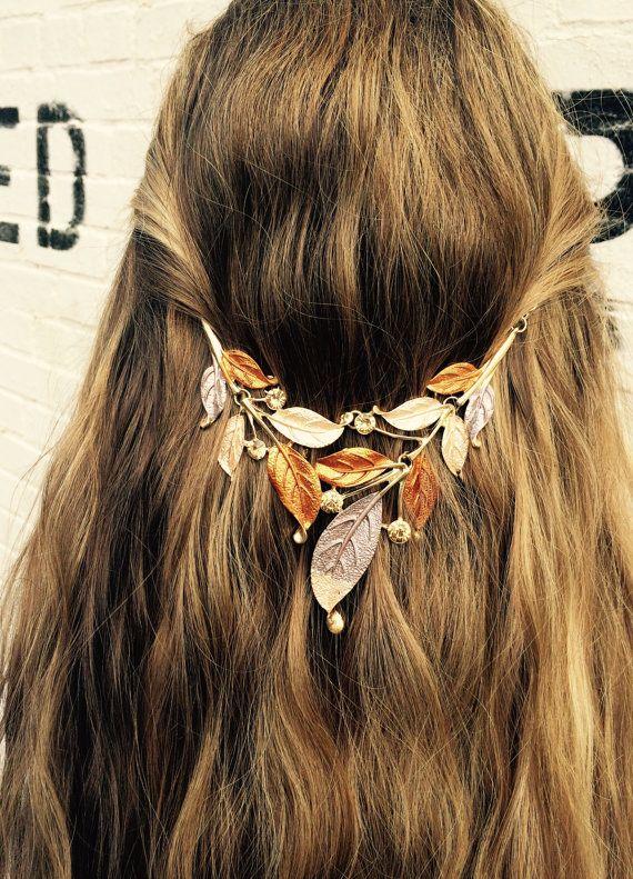 Hair jewelry Hair accessory Tribal hair chain by BellaViaDesigns