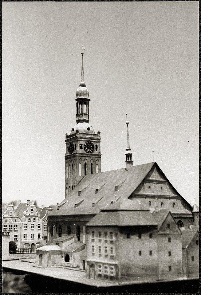 Кёнигсберг. Старая Альтштадская кирха, 1264 года постройки, снесена по причине ветхости в 1825-1828 годах. Модель начала XX века.