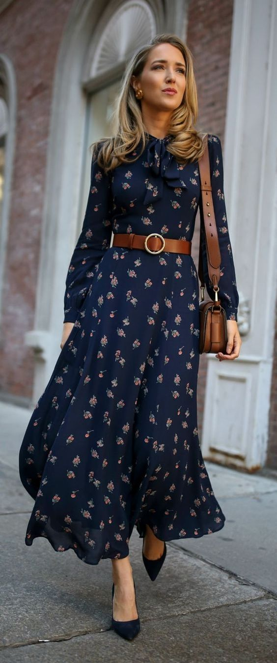 How to combine maxi dress in winter?