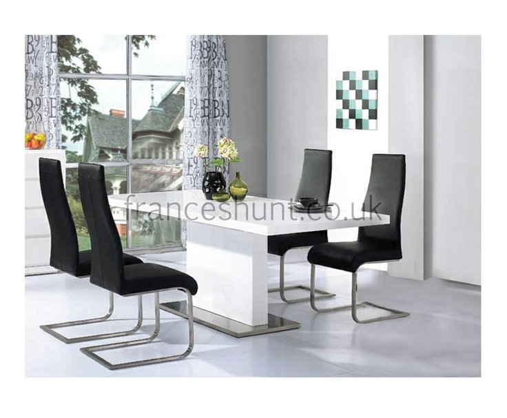 Marconi White High Gloss Dining Table