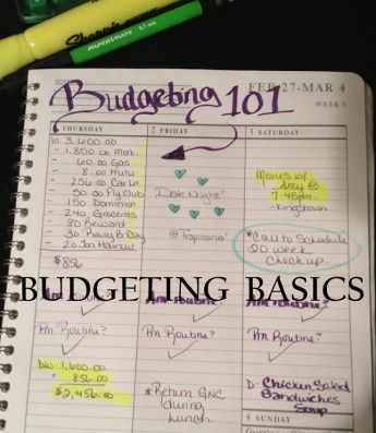 Tips to starting and maintaining a budget.