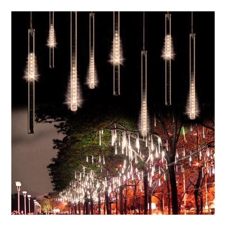 EU 50CM Meteor Shower Rain Tube LED Christmas Lights Outdoor Garden Xmas Christmas tree lights Decoration Luces De Navidad 11S