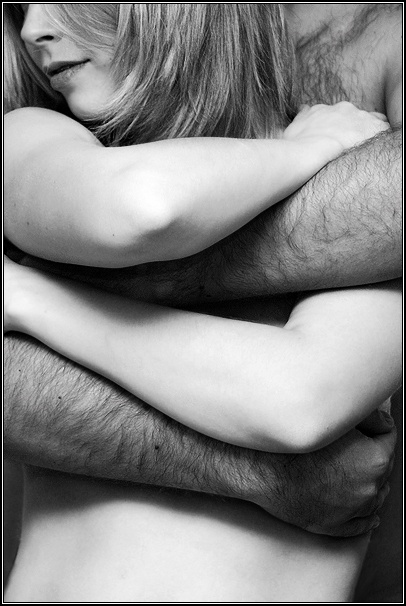 I embraced her from behind; her waif body melted in my strength. I inhaled her, she was lightly perfumed...
