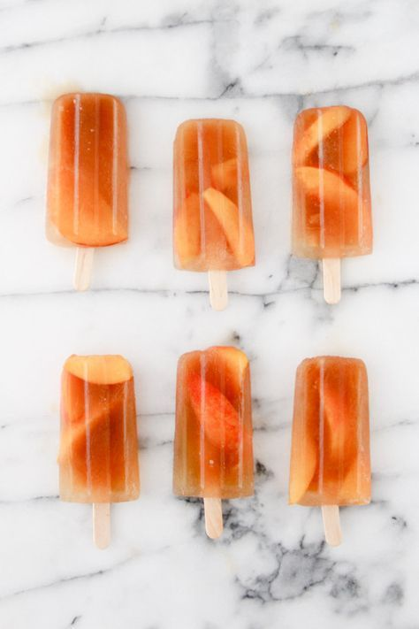 Sweet Peach Iced Tea Popsicles   17 Refreshing Iced Tea Popsicles You Should Make This Summer