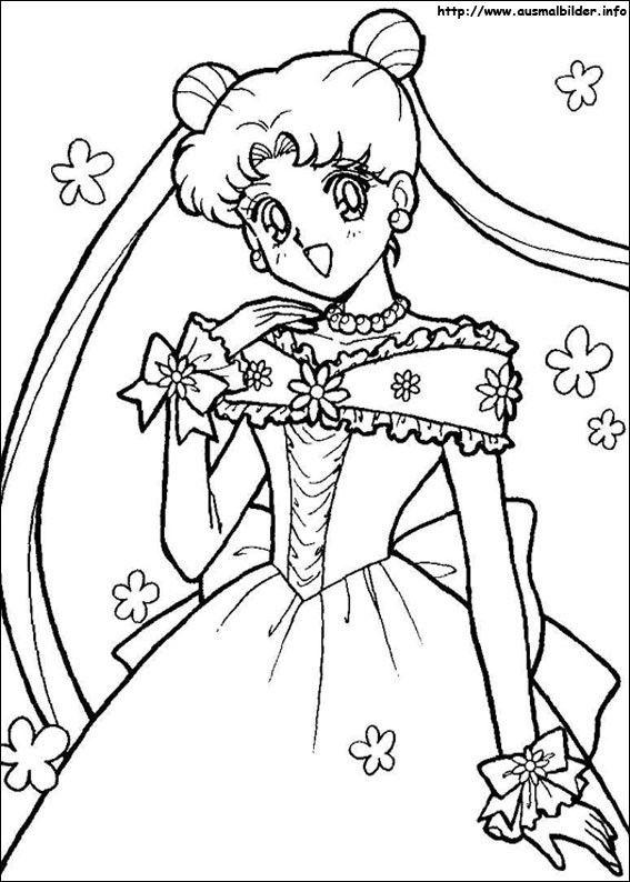 Beste 20 Sailor Moon Malvorlagen Sailor Moon Malvorlage Prinzessin Seemann Mond Tapete