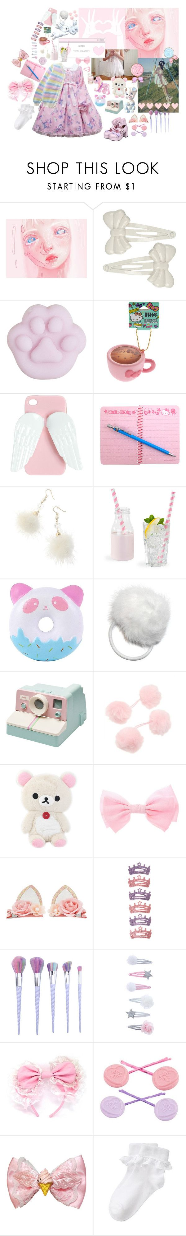 """""""🍓"""" by crimson-crow ❤ liked on Polyvore featuring Forever 21, My Little Pony, Hello Kitty, Wet Seal, Monsoon and Accessorize"""