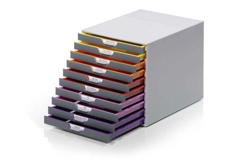 Varicolor® 10. High quality with non slip rubbers on the base. 10 slim trays.