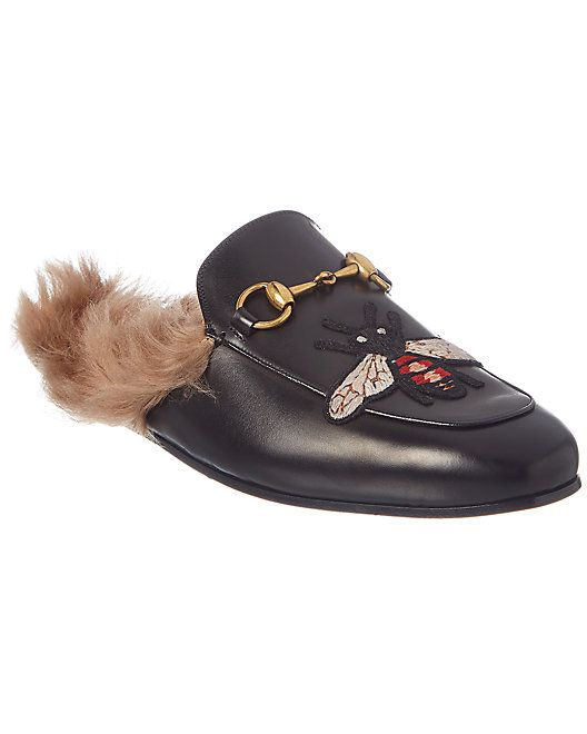 3d6dbd4a1fe3 Gucci Princetown Bee Applique Leather Slipper  Bee